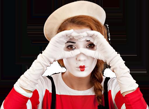 Girl in Mime Make-up