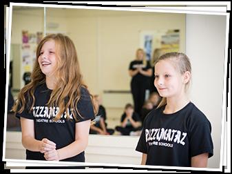 Two Razzamataz Girls Smiling