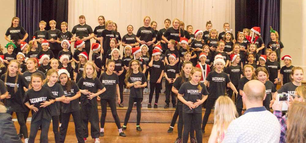 Christmas presentation and end of year Awards at Razzamataz York