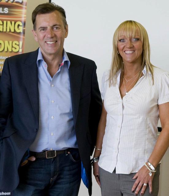 Duncan Bannatyne with MD & Founder Denise Gosney