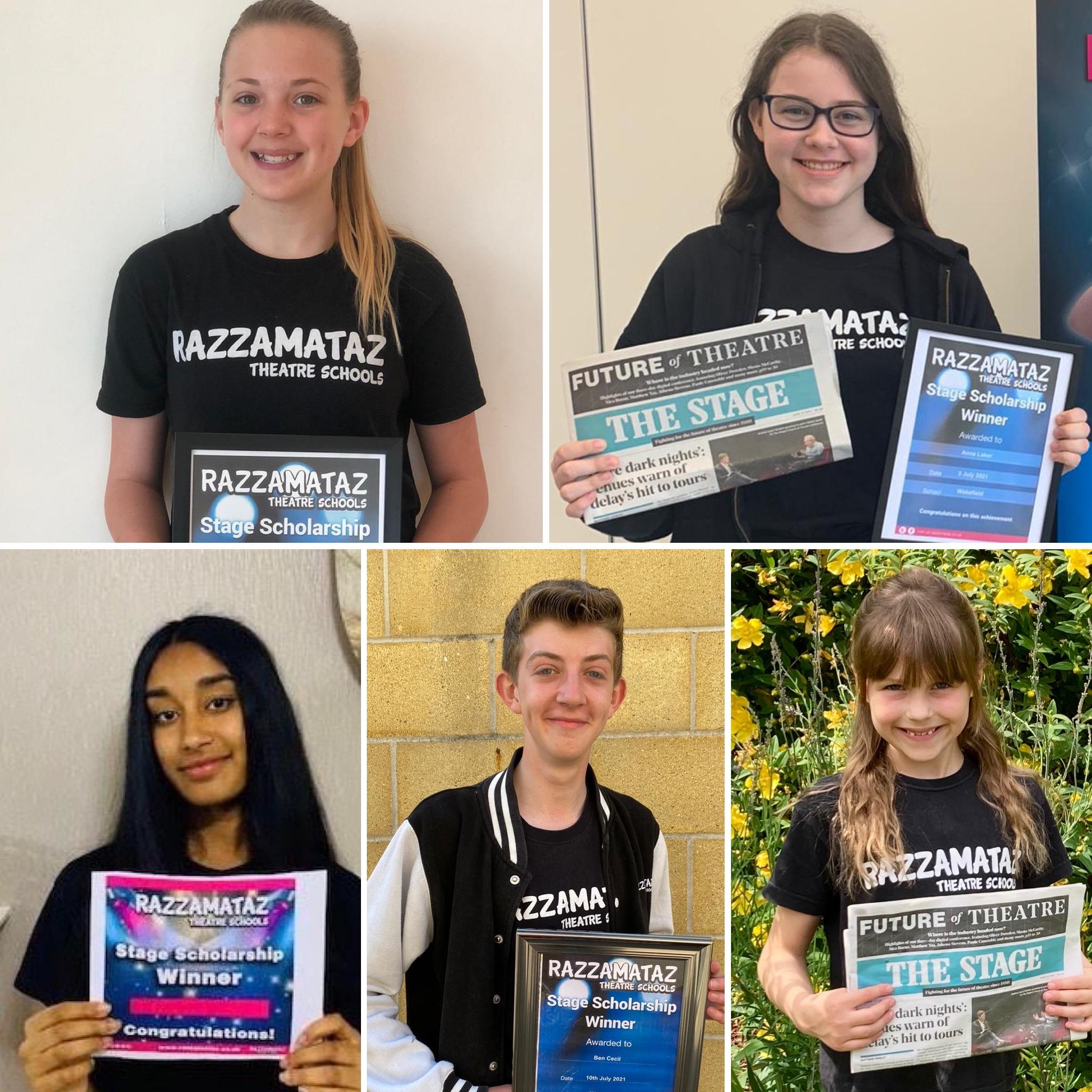 Razzamataz Stage Scholarship winners 2021
